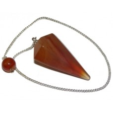 Carnelian Faceted Pendulum