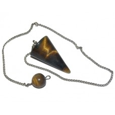 Golden Tiger's Eye Cone Pendulum