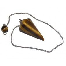 Golden Tiger's Eye Faceted Pendulum
