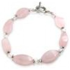 Crystal Twist Bracelet: Rose Quartz