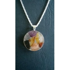 Gemstone Energy Pendant - Calm Reflection, Positive Energy, Balance and Inner Strength.    Reference No.A13