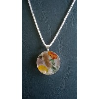 Gemstone Energy Pendant - Balance, Contentment and Protection.  Reference No. A22