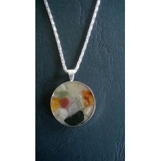 Gemstone Energy Pendant - Increased Energy, Tolerance, Love and Compassion.  Reference No. A4