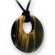 Donut Pendant - Tiger's Eye