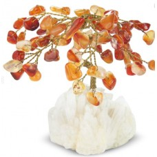 Gemstone Chip Tree - Carnelian