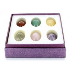 Box set of 6 Gemstone Eggs - 25mm