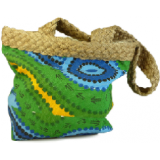 Aboriginal Art Bags - Green & Blue