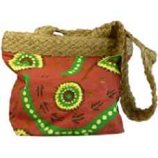 Aboriginal Art Bags - Maroon & Green
