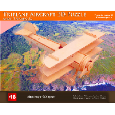 Triplane Aircraft Wooden 3D Puzzle